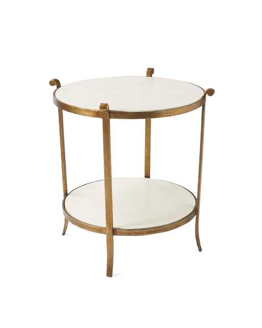 St. Germain Stone Side Table - Serena and Lily