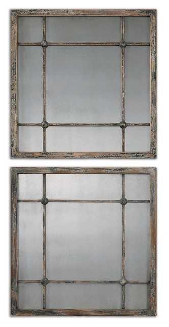 Saragano Square Mirrors Set/2 - Hudsonhill Foundry