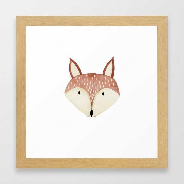 """Fox Nursery Framed Art Print, 12""""x12"""", Conservation Natural - Society6"""