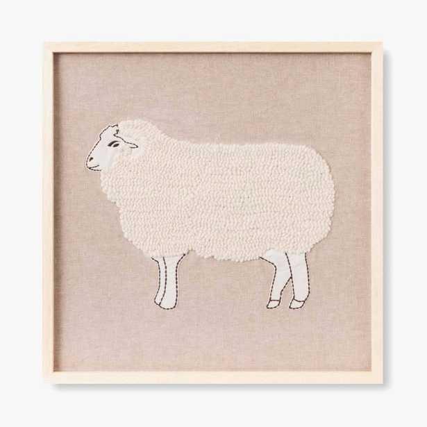 """Good Shepherd - Framed Artwork 21"""" x 20"""" - Loma Threads"""