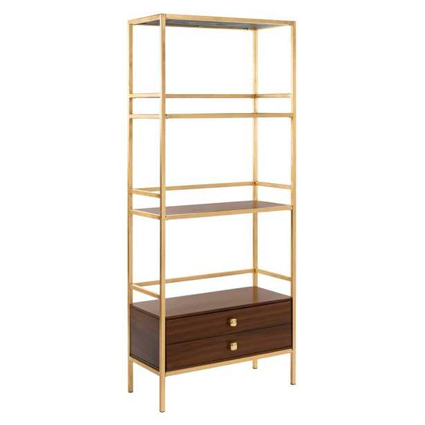 Arrighetto 4 Tier Etagere Bookcase - Wayfair