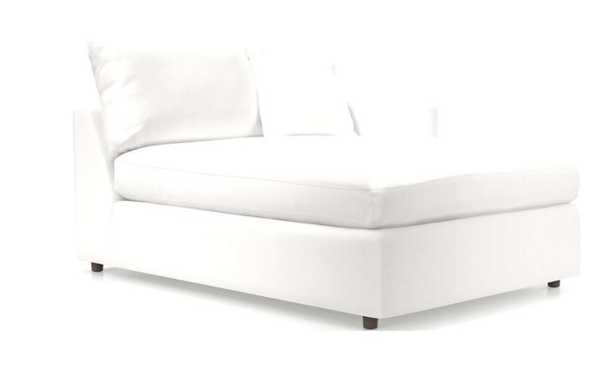 Lounge II Petite Right Arm Chaise- View, White - Crate and Barrel