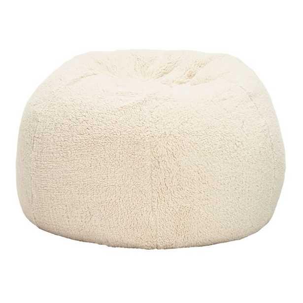 Sherpa Bean Bag Chair - Cover and Insert - Medium - Pottery Barn Teen