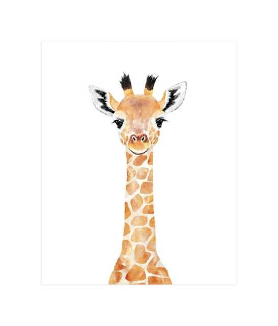 baby giraffe unframed - Minted