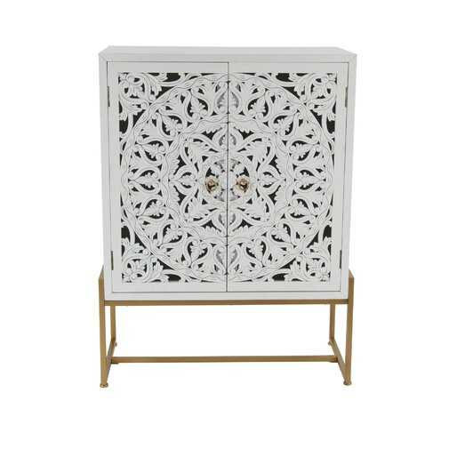 Springhill Traditional Carved 2 Door Accent Cabinet - AllModern