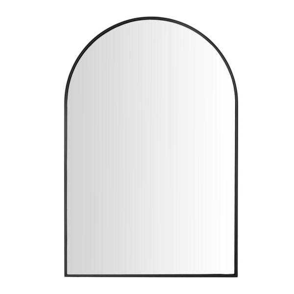 Wall Decor Black Rounded Arch Mirror - Home Depot