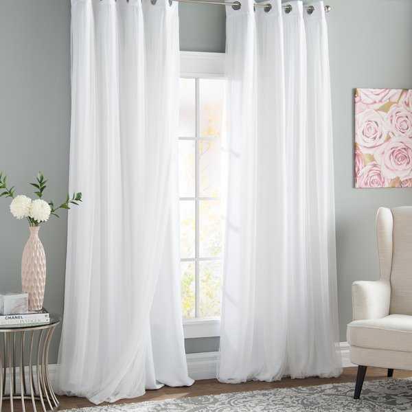 Brockham Solid Room Darkening Grommet Curtain Panels - Wayfair