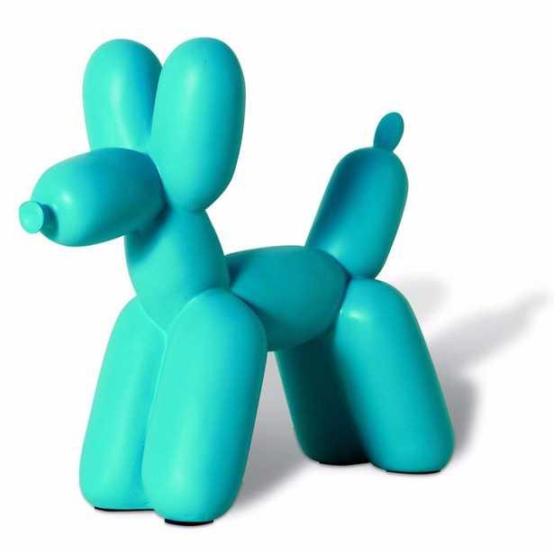 Big Top Ceramic Balloon Dog Bookend in Teal - Burke Decor