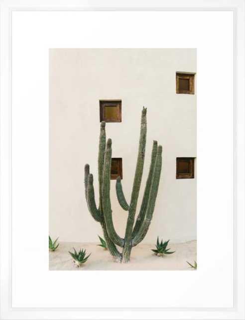 """Cabo Cactus - 20"""" x 26"""" - vector white - Society6"""