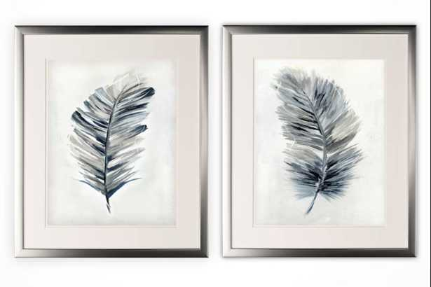 Soft Feathers Framed Print Set - Wayfair