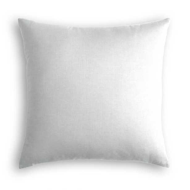 Cool Gray Classic Linen Throw Pillow - Linen & Seam