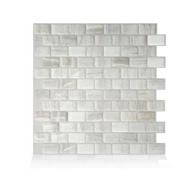 "Ravenna 10"" x 10"" Gel Peel & Stick Mosaic Tile, 4-Pack - Home Depot"