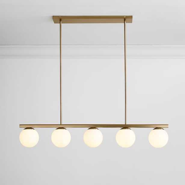 Hayes Chandelier, Linear, Light Bronze - West Elm