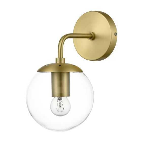 Mcreynolds Globe 1-Light Armed Sconce, brushed brass - Wayfair