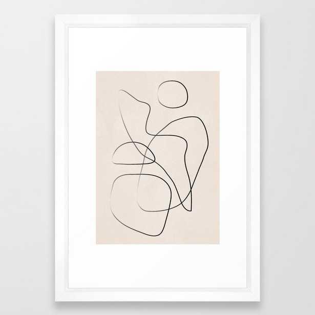 "Abstract Line I - 15"" x 21"" - vector white - Society6"