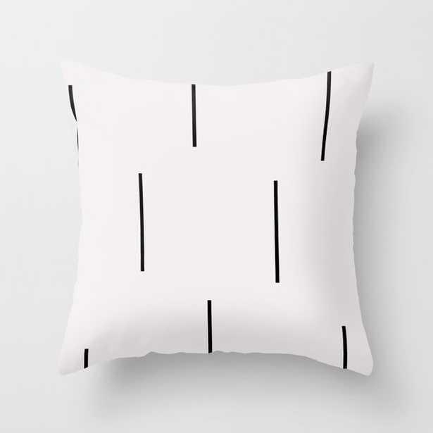 Mudcloth white black dashes vectical Throw Pillow - Society6
