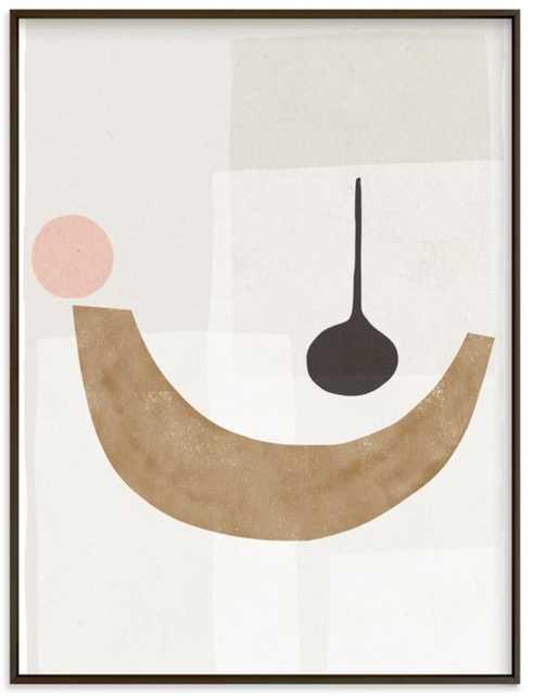 "The Balancing 1, 18"" x 24"" Black Frame - Minted"