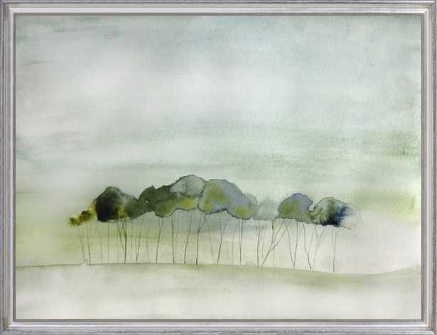 "Quiet; Silver Leaf Wood, frame width 1.25"", depth 1.25"", No matte - Artfully Walls"