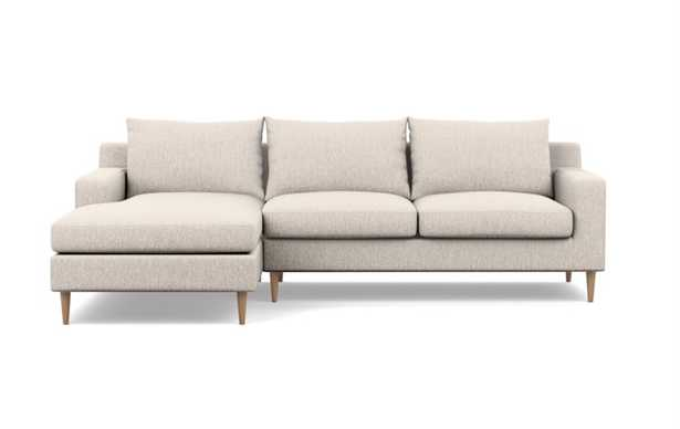 SLOAN Sectional Sofa with Left Chaise, wheat - Interior Define