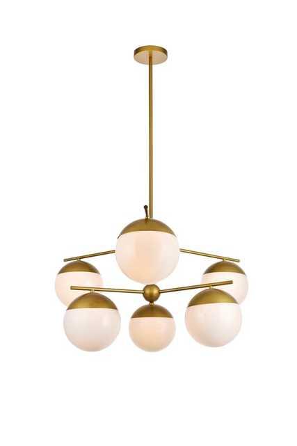 Emil 6 - Light Sputnik Modern Linear Chandelier - AllModern