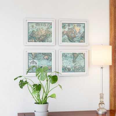 'Map' Picture Frame Graphic Art Set - Birch Lane