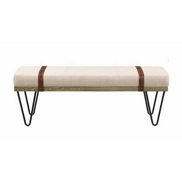 Carnahan Upholstered Bench- back in stock 8/23 - Wayfair