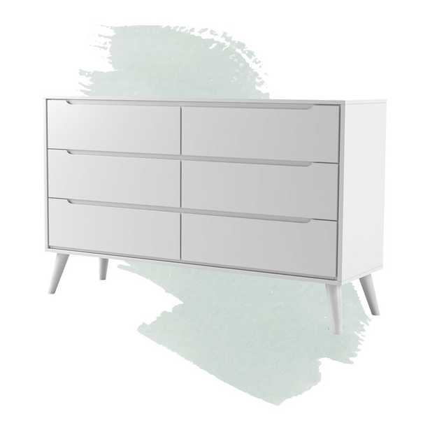 Staton 6 Drawer Double Dresser - White - Wayfair