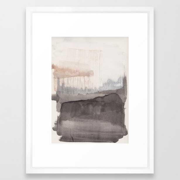 Winter is coming Framed Art Print, Vector White - Society6