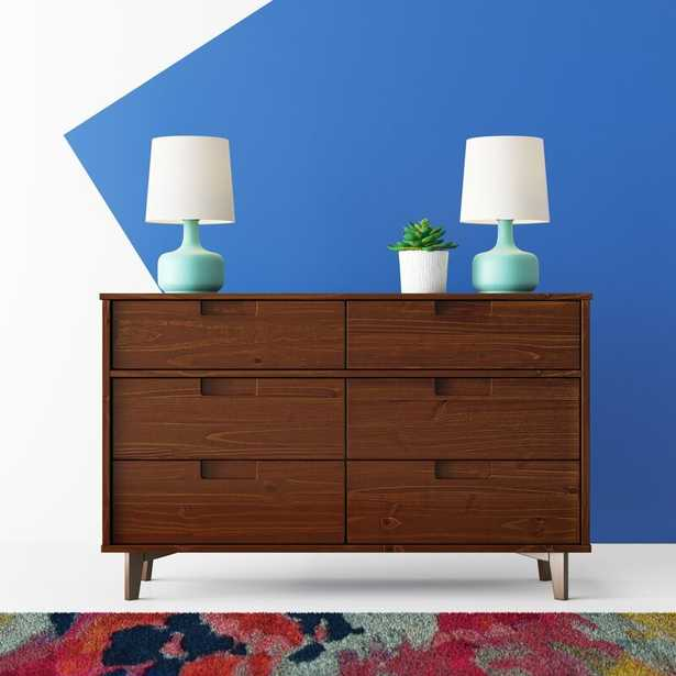 Cecille Groove 6 Drawer Double Dresser - AllModern