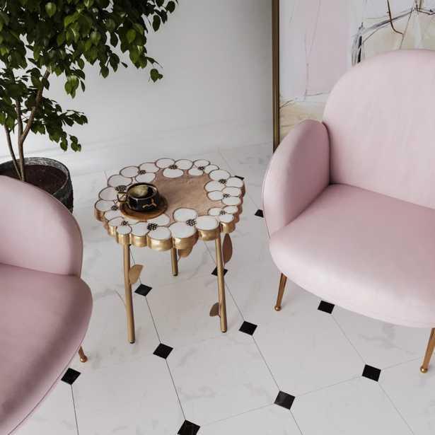 Flor Handpainted Side Table - Maren Home