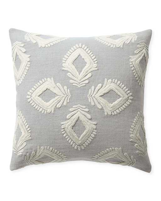 """Leighton 24"""" SQ Pillow Cover - Smoke - Insert sold separately - Serena and Lily"""