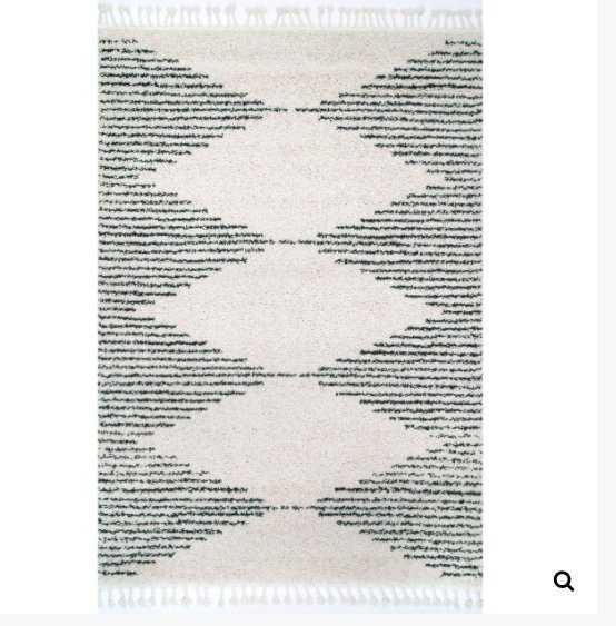 Bria Moroccan Diamond Tassel Rug Area Rug - Loom 23