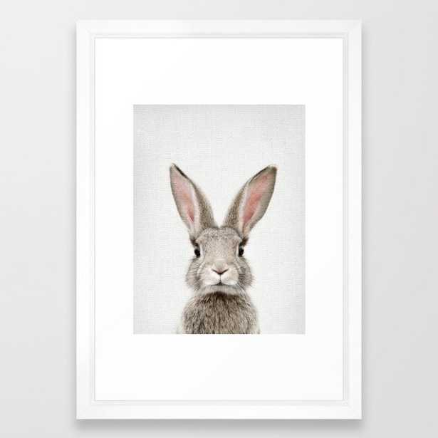 Bunny Portrait Framed Art Print - Society6