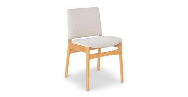 Nosh Chalk Gray Oak Dining Chair - Article