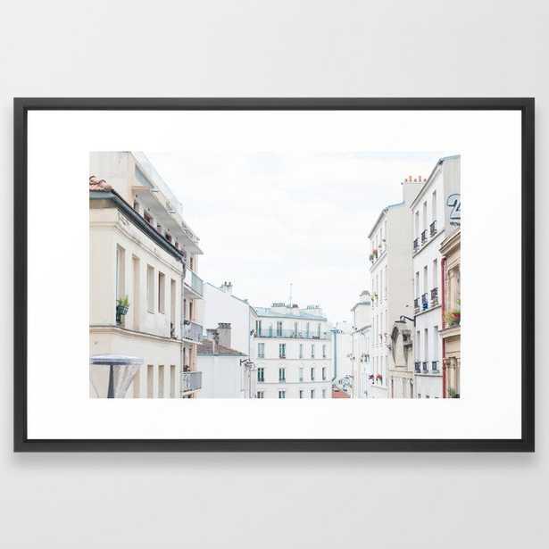 Paris France Sunny Day Skyline Buildings Framed Art Print - Society6