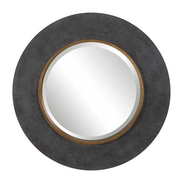Zena Round Beveled/Distressed Accent Mirror - Wayfair