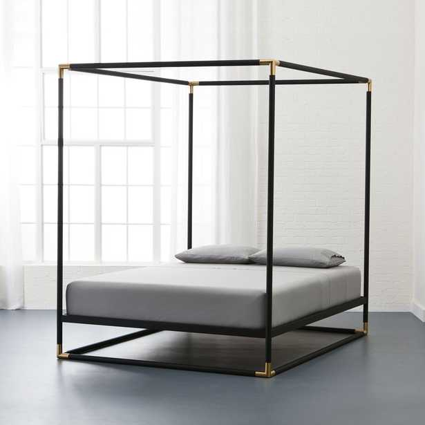 frame canopy queen bed - CB2