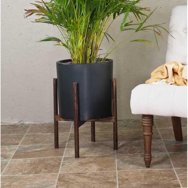 Brantner Ceramic Pot Planter with Plant Stand - Wayfair