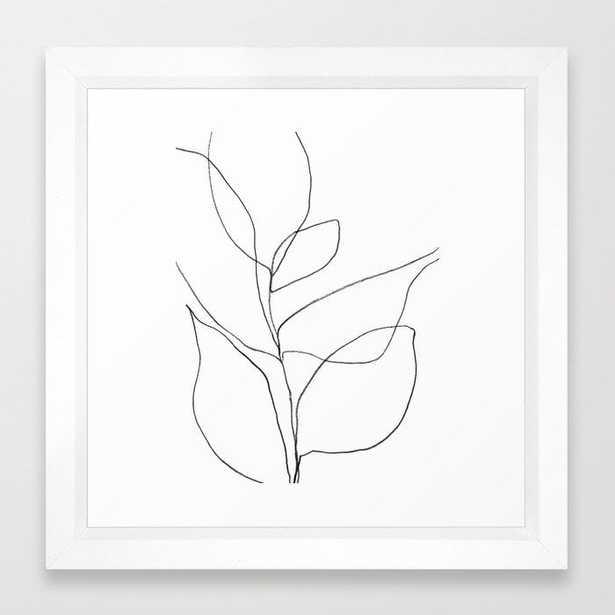 "Plant - 12"" sq. - vector white - Society6"