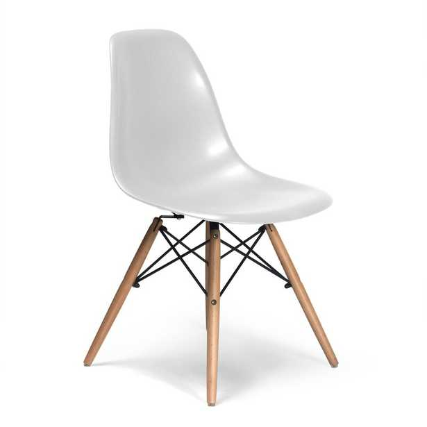 Kling Dining Chair (set of 2) / White, Walnut - AllModern