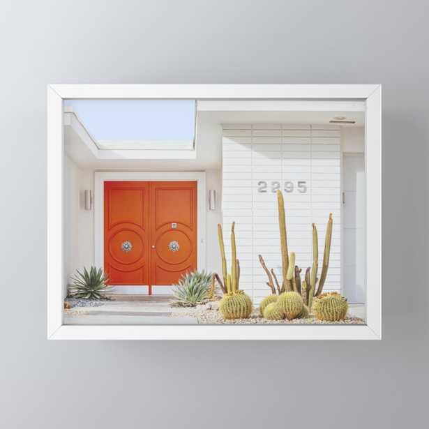 """Orange Door in Palm Springs Framed Mini Art Print 4"""" x 3"""" - Society6"""