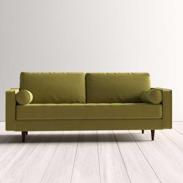 """Ravi Velvet 84"""" Square Arm Sofa - AllModern"""