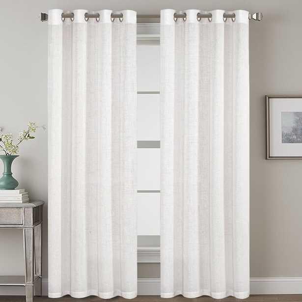 Lyla Linen Solid Color Semi-Sheer Grommet Curtain Panels (Set of 2) - Wayfair