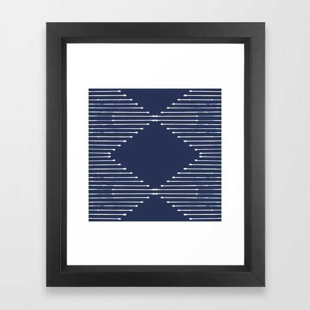 Geo / Navy Framed Art Print - Vector Black Frame - Society6