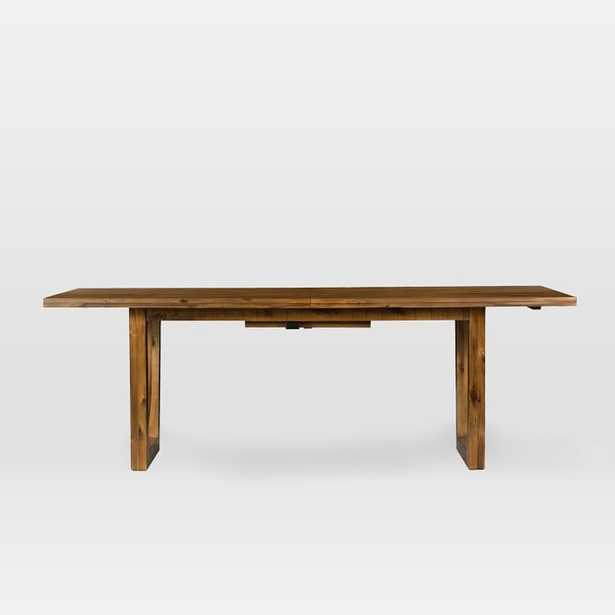 Logan Industrial Expandable Dining Table - Natural - West Elm