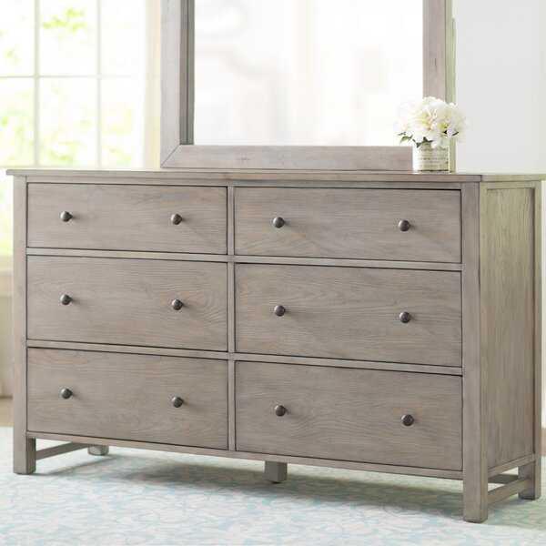 Aguirre 6 Drawer Double Dresser - Wayfair