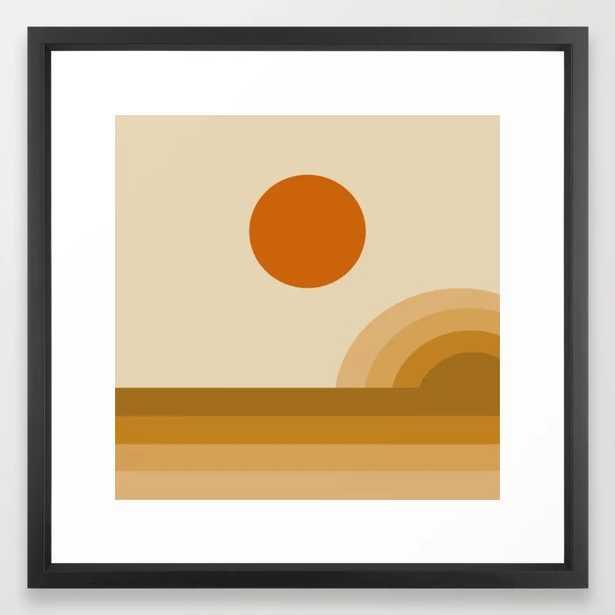 Sunset II (Retro) Framed Art Print - Society6