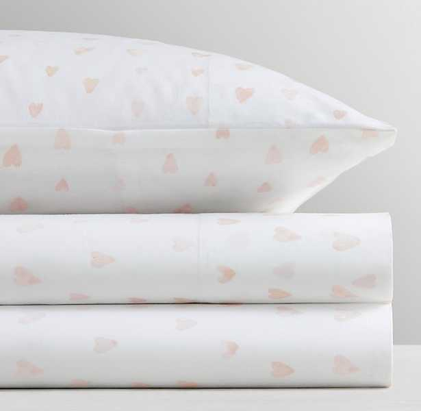 WATERCOLOR HEARTS PERCALE SHEET SET - RH Baby & Child