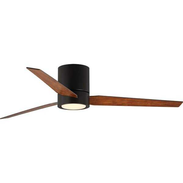 """56"""" Tucker 3 Blade LED Ceiling Fan with Remote, Light Kit Included - AllModern"""