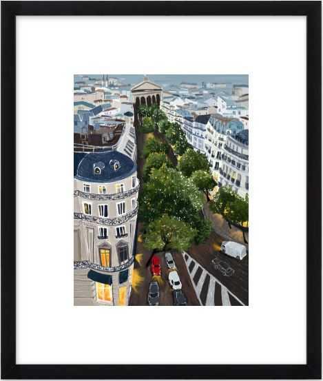 "Paris - 11"" x 14"" - black wood contemporary frame - Artfully Walls"